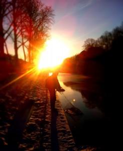 schöne Momente beim Barschangeln im Winter