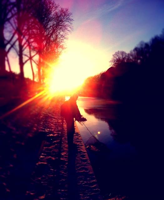 Barschangeln im Winter - so schön kann's sein