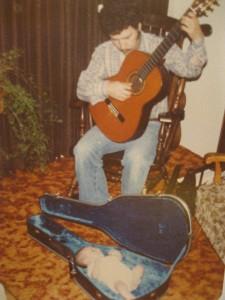 April, Daddy und Gitarre