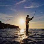 Sonnenuntergang in Irland whrend die Hugy Lures gefeuert werden Derhellip