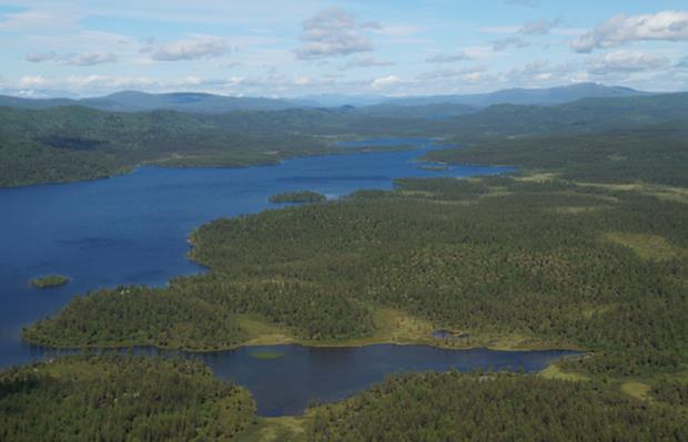 Lappland von oben