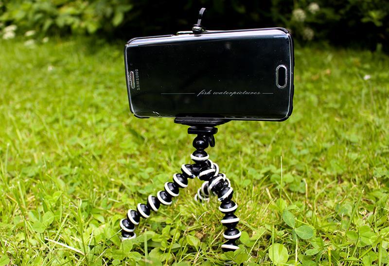 Angelfoto mit Smartphone