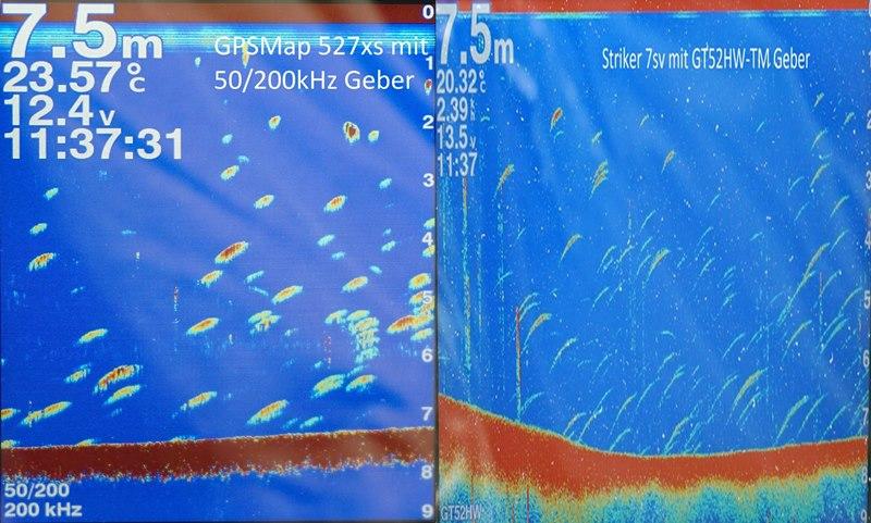 Striker Geräte von Garmin im Vergleich