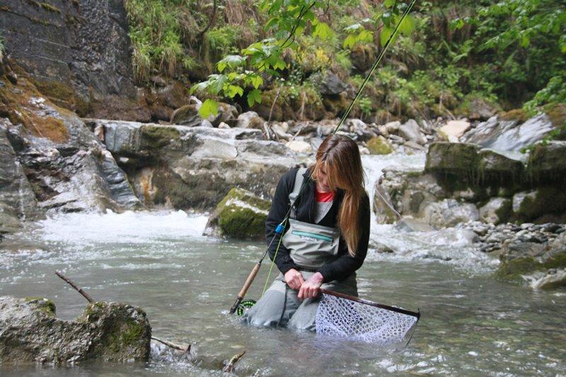 Schöne Fliegenfischen Gewässer in Österreich