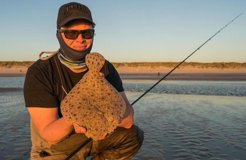 Steinbuttfischen mit der Spinnrute in der Nordsee