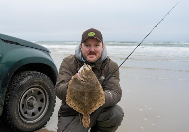 Steinbutt vom Strand angeln