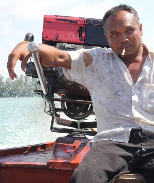 Angeln mit Thailändischen Fischern