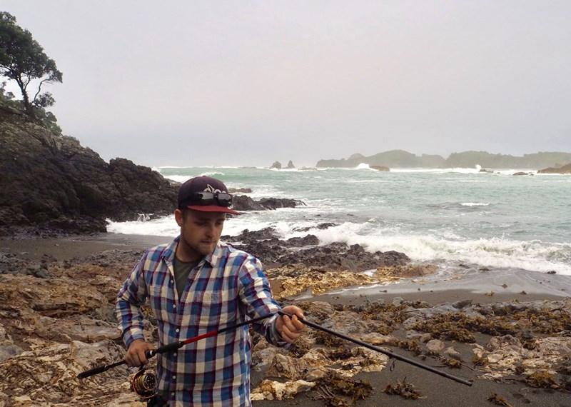 Angeln im Meer Neuseeland