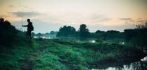 An der Weser Zander mit Wobbler fangen